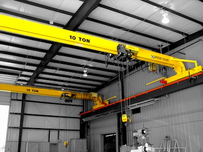 Top Running Single Girder Overhead Crane, Structural Construction, Single Hoist